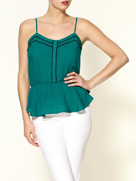Piped Peplum Top by Tinley Road