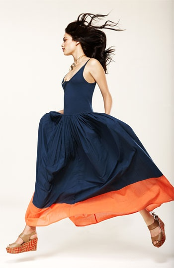 Colorblock Cotton Tank Maxi Dress by French Connection