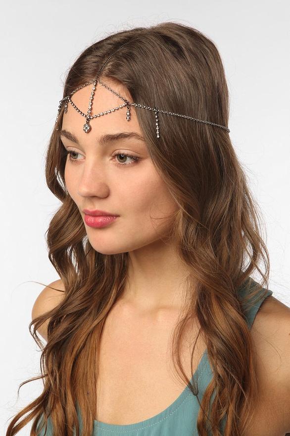 Rhinestone Goddess Chain Headdress from Urban Outfitters