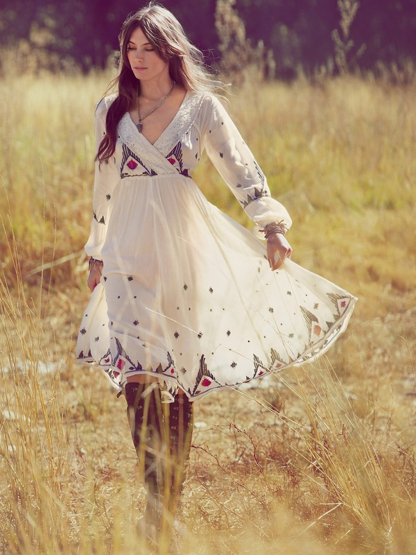 New Romantics Splendor in the Grass Embroidered Dress from Free People