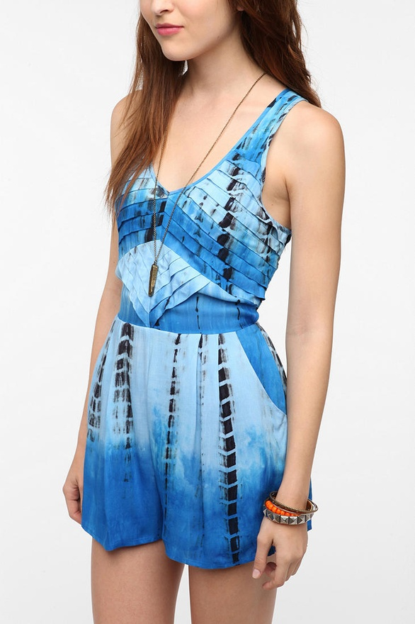 Pleated Tie-Dye Romper by Staring at Stars