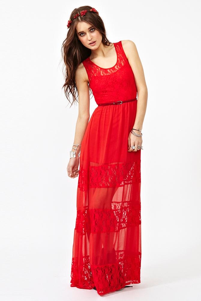 Laced Maxi Dress