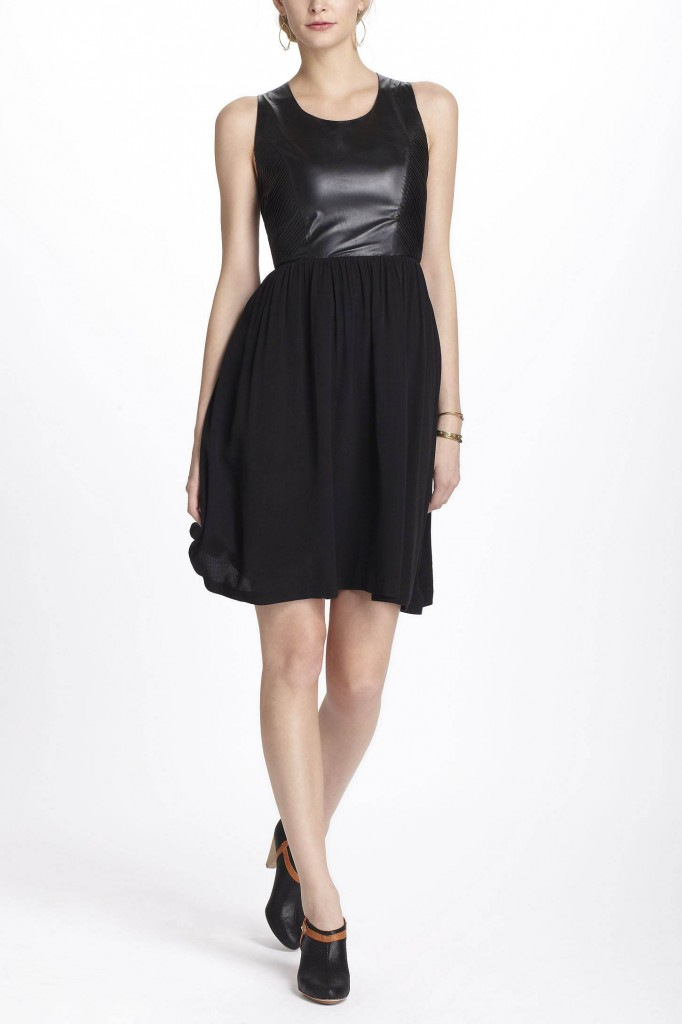 Mixed Materials Dress by Line & Dot
