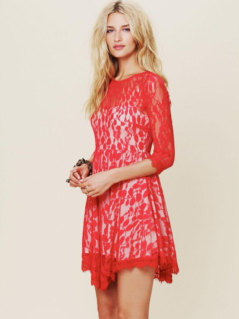 Floral Mesh Lace Dress by Free People