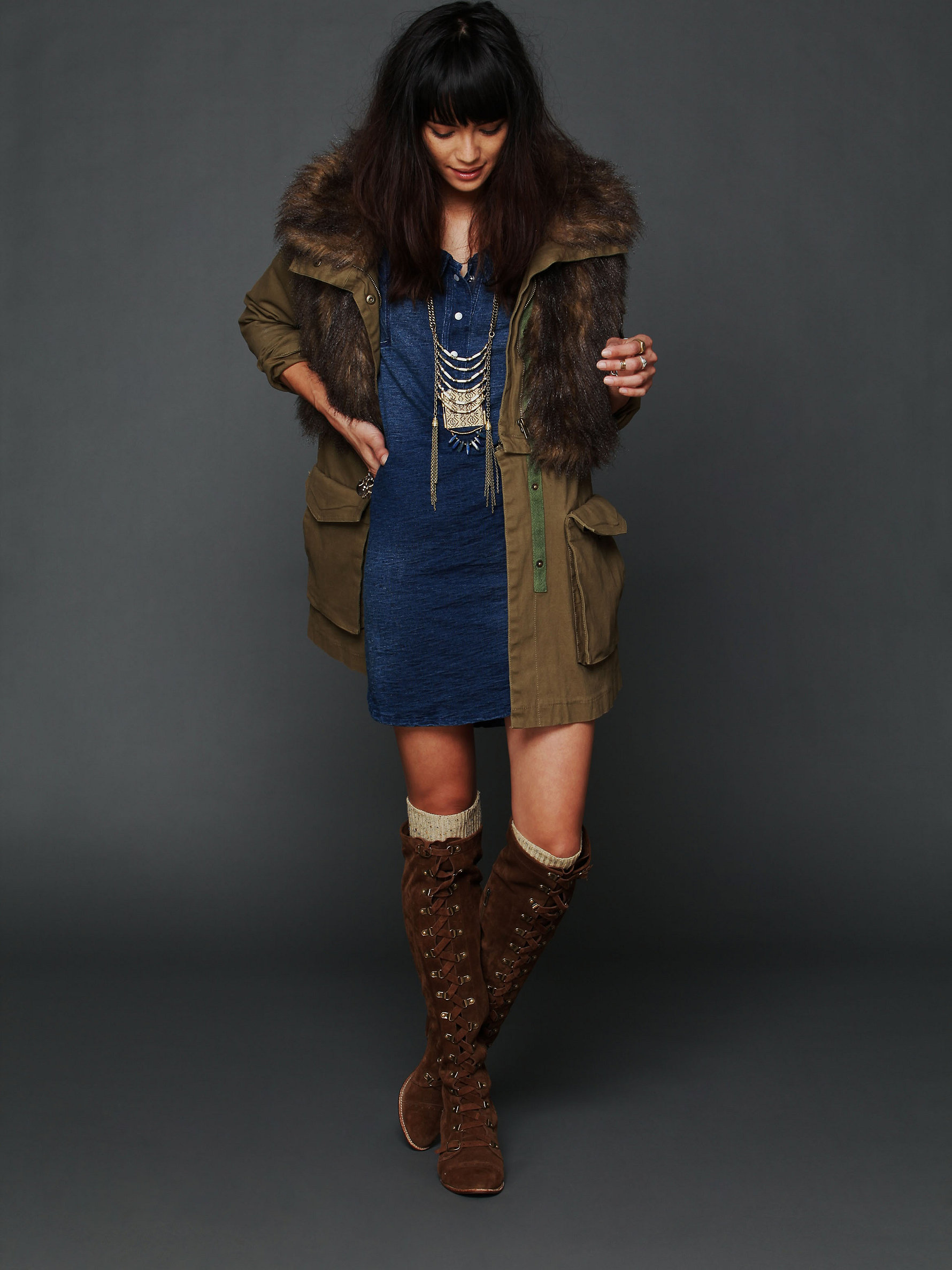 Fur Parka by Three Floor