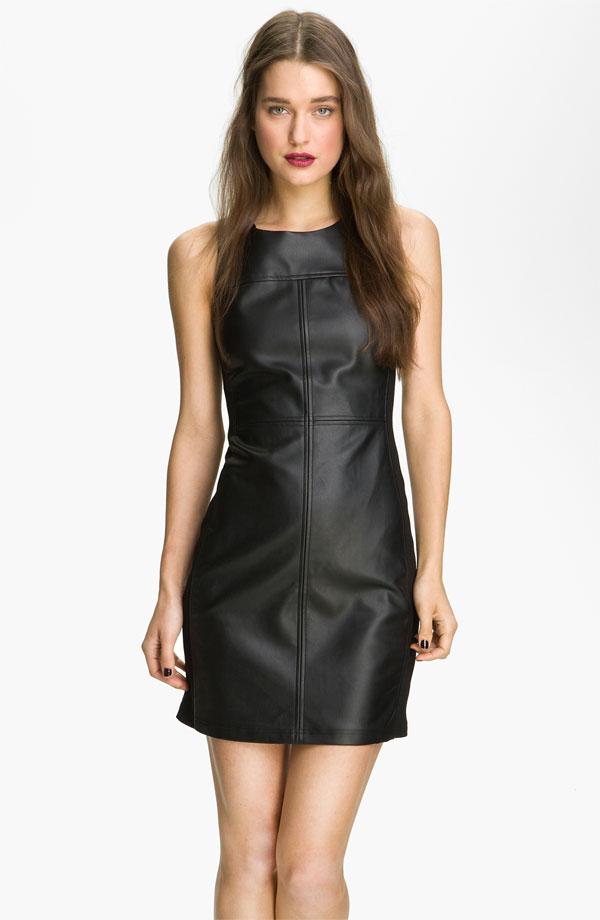 Faux Leather Shift Dress by Sanctuary