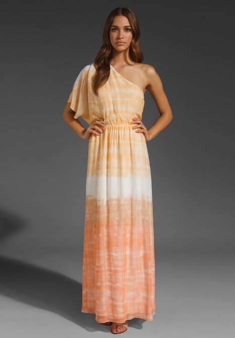 Crawford One Sleeve Maxi Dress by Alice + Olivia