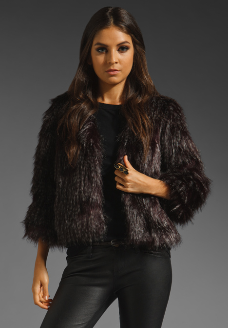 Long Haired Faux Fur Jacket by Anna Sui