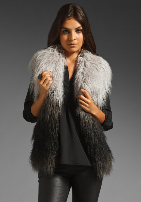 Mongolian Faux Fur Vest by Graham & Spencer
