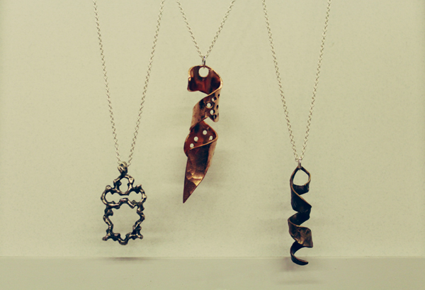 metalworked necklaces
