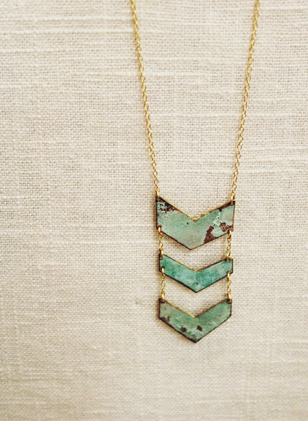 Triple Chevron Necklace by Ninotchka Goods