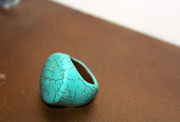 turquoise ring by Gold Tentacle