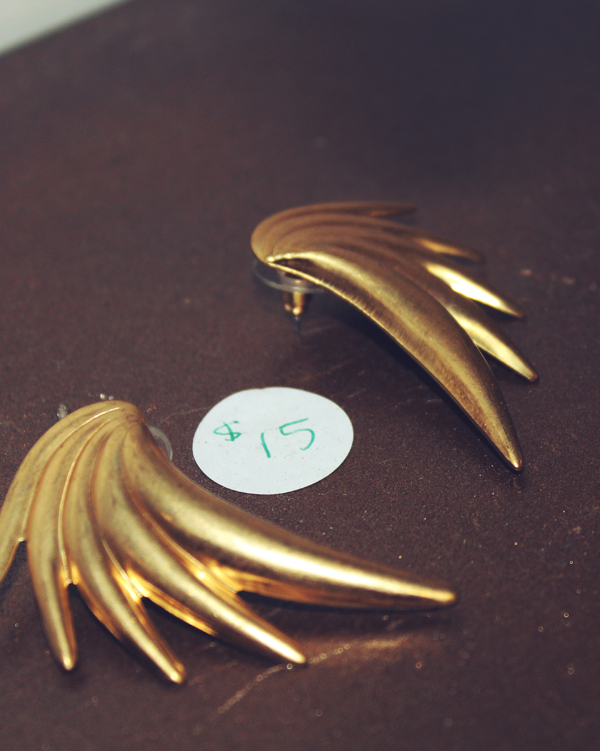 vintage earrings by Gold Tentacle