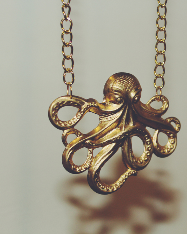 octopus necklace by Gold Tentacle