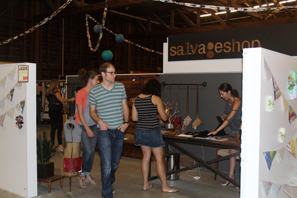 salvageshop booth at Crafted's Etsy Party