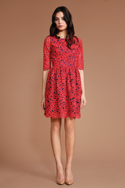 Lord And Taylor Shoshanna Dresses Loren Lace Janelle Dress by
