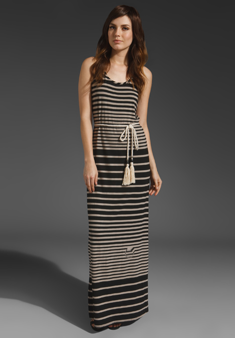Variegated Stripe Addison Maxi Dress by Michael Stars