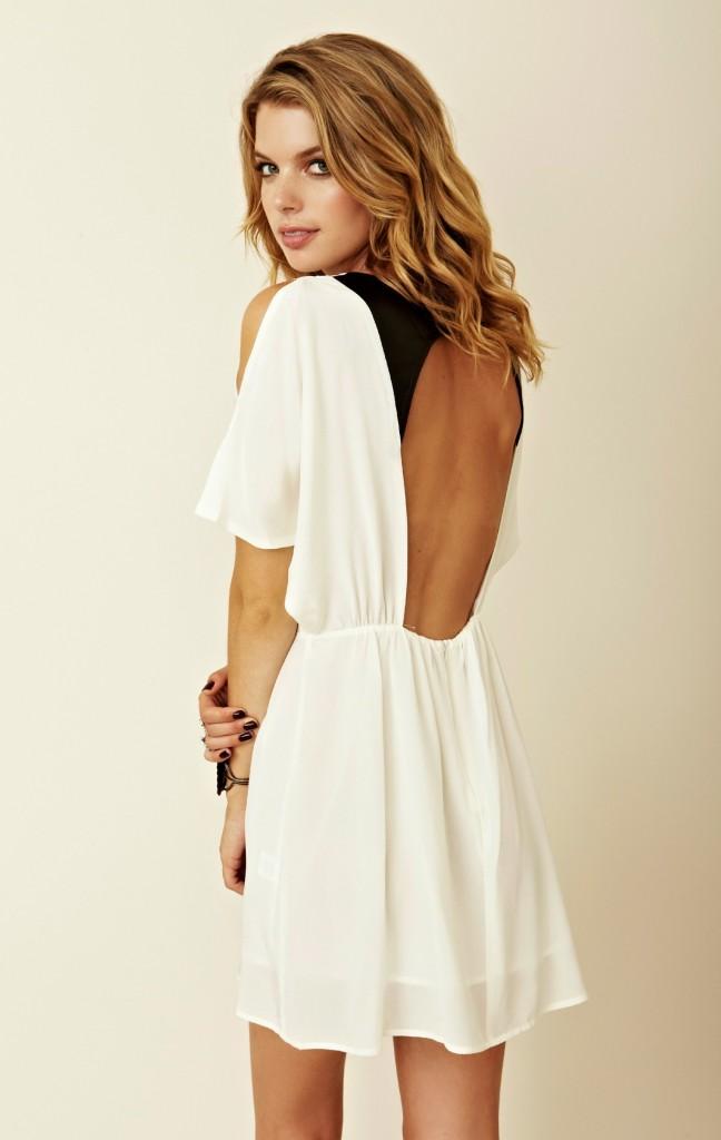 Flirt Open Back Dress by Funktional
