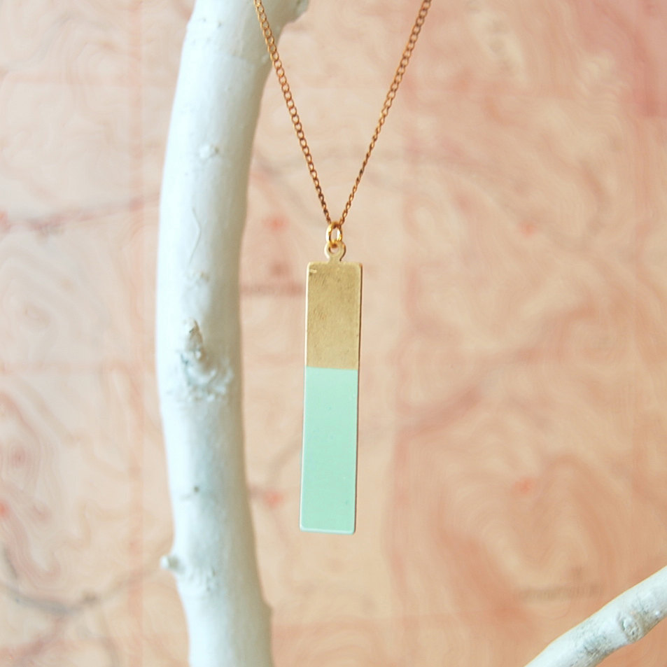 """""""Durango"""" Handpainted Brass Pendant Necklace by Son of a Sailor"""