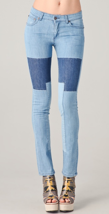 Regular Slim Patched Jeans by Surface to Air