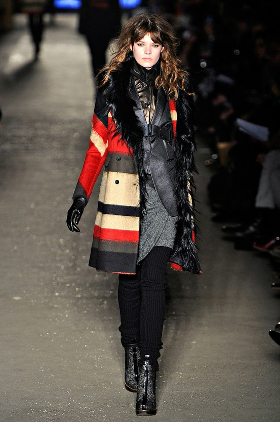 'Winsor' Stripe Coat by Rag & Bone