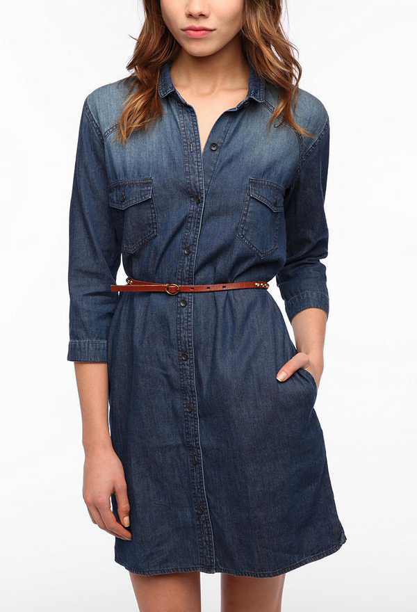 BDG Chambray Shirtdress