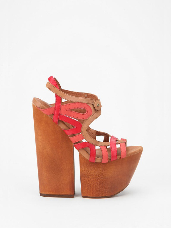 Extreme Wood Sandal by Jeffrey Campbell