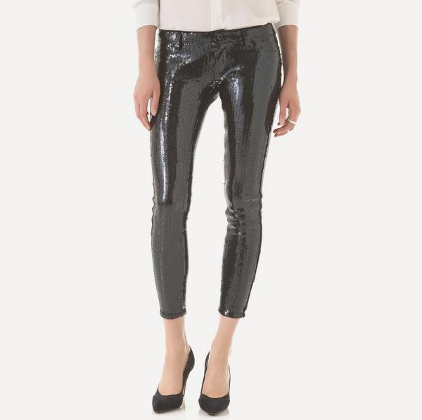 Sequined Skinny Pants by Blank Denim