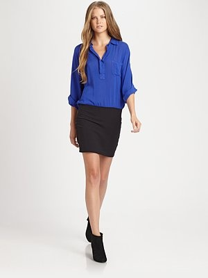 Colorblock Shirtdress by Splendid