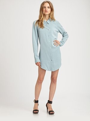 Shirtdress by T by Alexander Wang