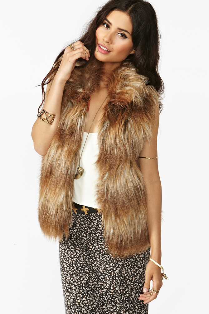 Erica Faux Fur Vest by Jack by BB Dakota