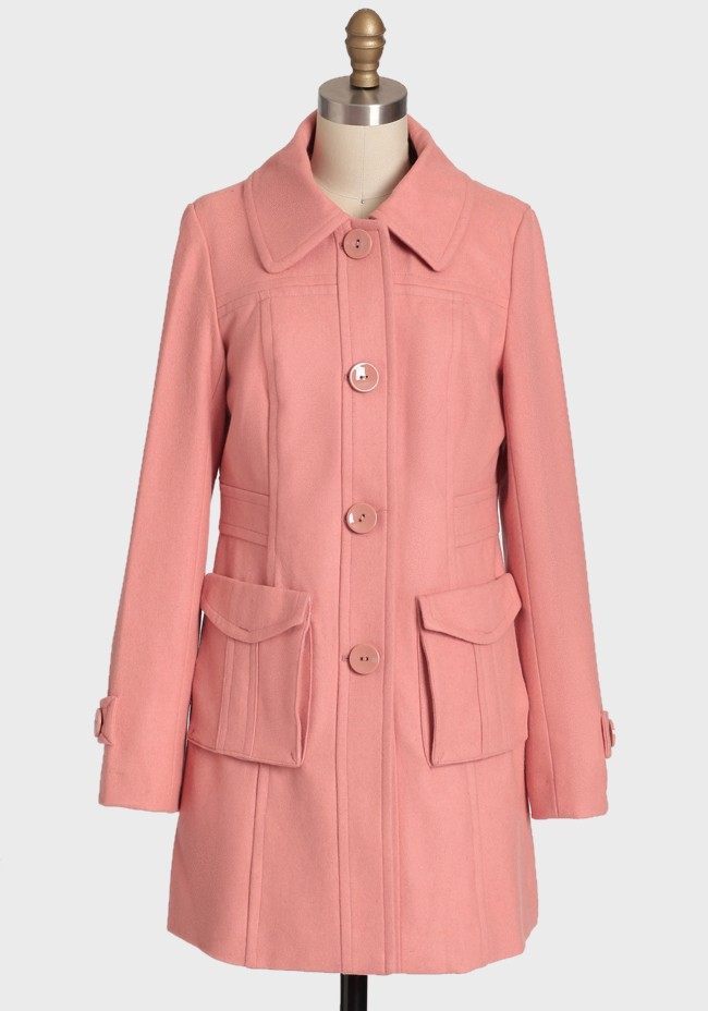 Vintage Rose Wool Coat by Tulle