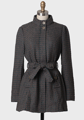 Edinburgh Stroll Stand Collar Coat by Tulle