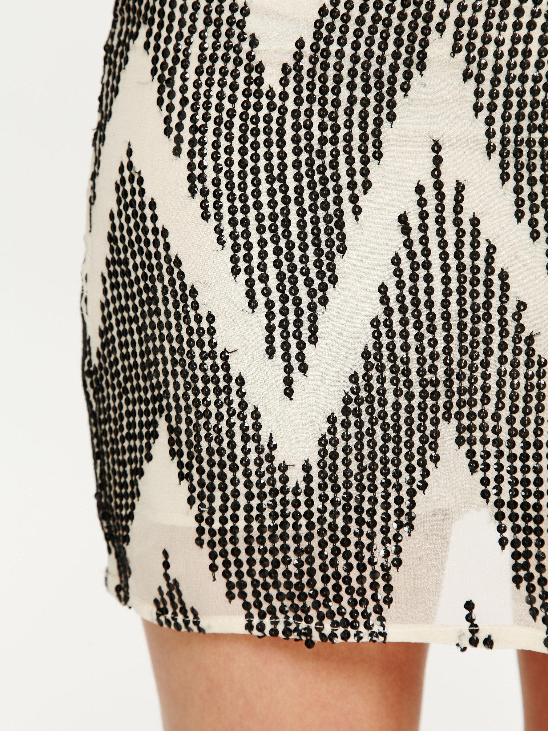 Zig Zag Mini Skirt by Leyendecker