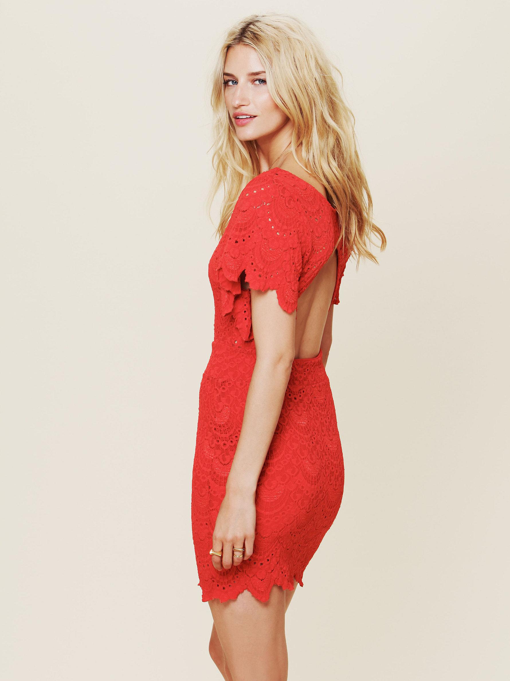 Spanish Lace Flutter Dress by Nightcap