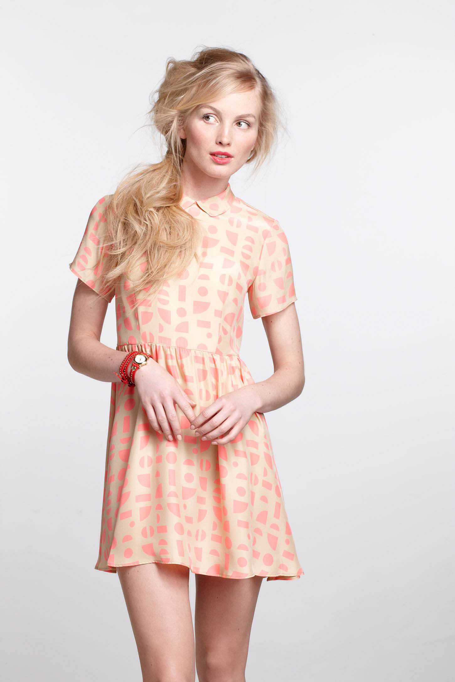 Shapes Collared Mini Dress by Ellen Van Dusen