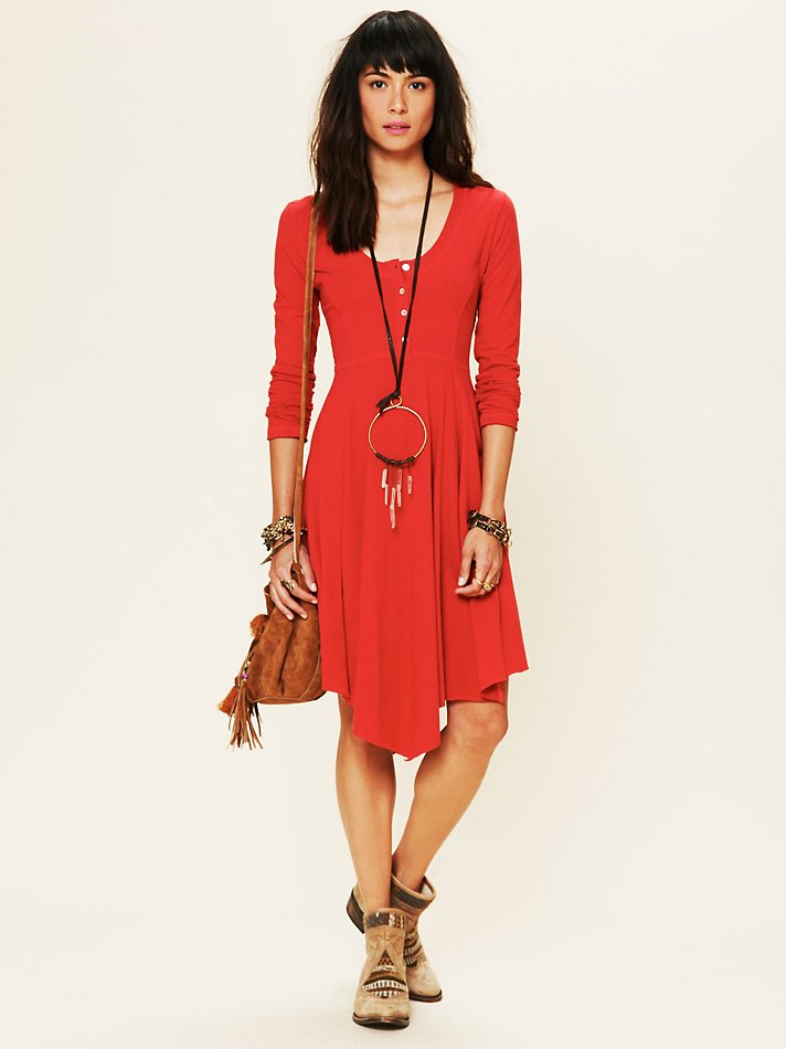 Miles of Henley Mini Dress from Free People Boutique