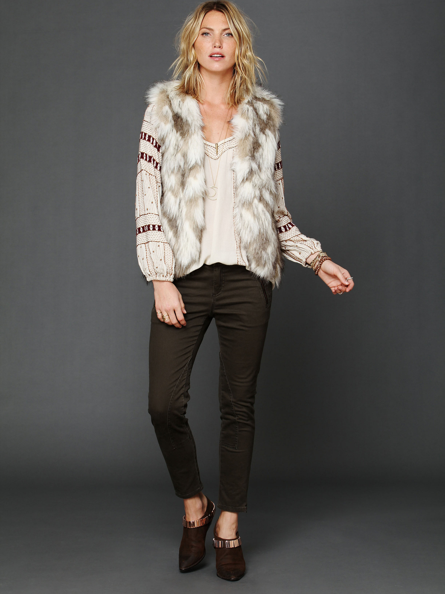 Call of the Wild Fur Vest from Free People