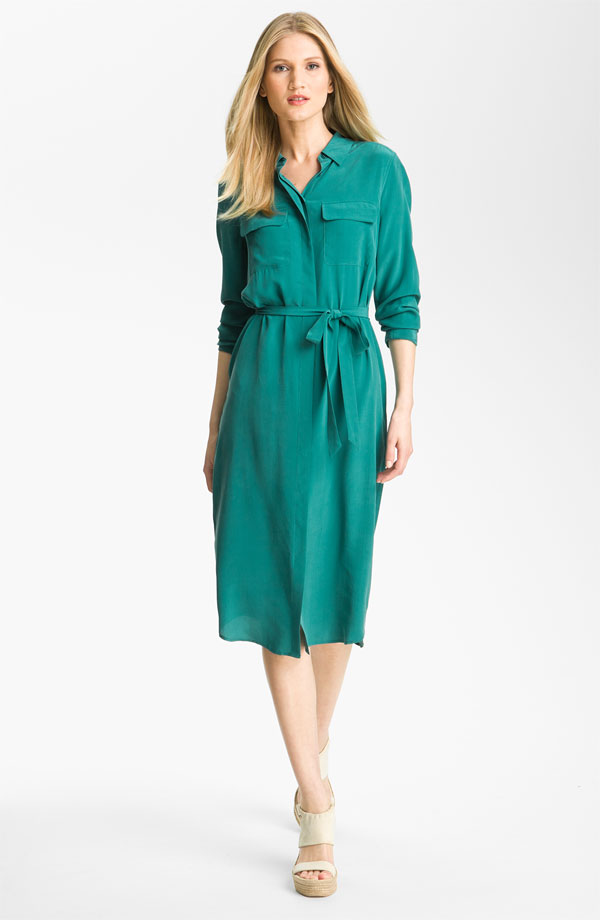 Tegan Silk Shirtdress by Equipment