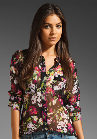 Floral Symphony Signature Blouse by Equipment