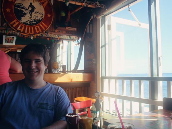 Matthew at Cheeseburger in Paradise
