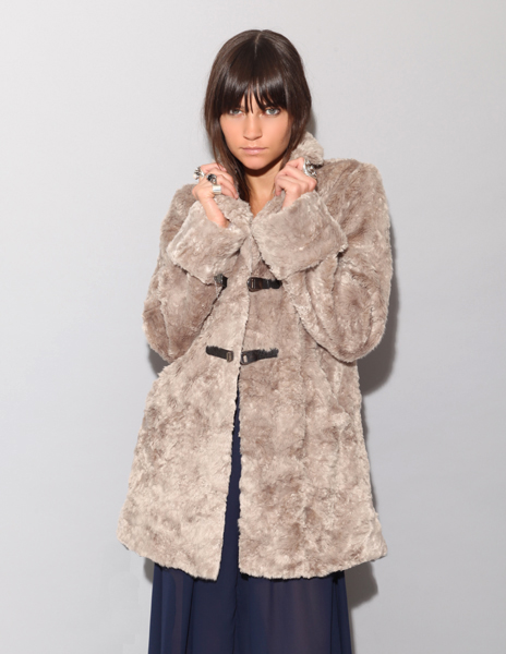 Faux Fur Coat from Pixie Market