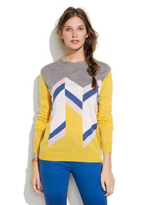 Le Mont St. Michel Geometric Shapes Sweater