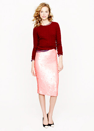 No. 2 Pencil Skirt in Sequins by J. Crew