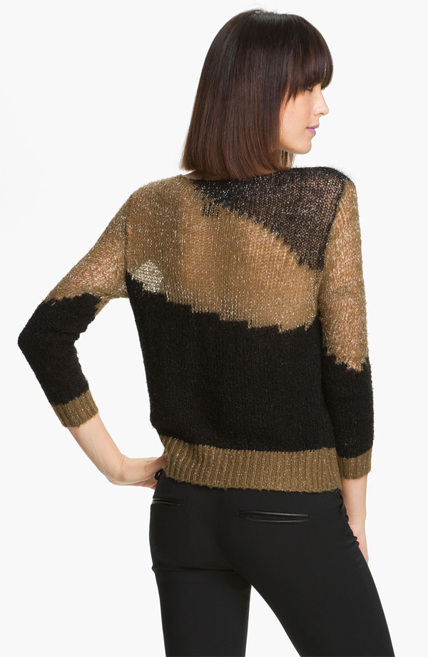 Alice + Olivia 'Opal' Metallic Knit Sweater