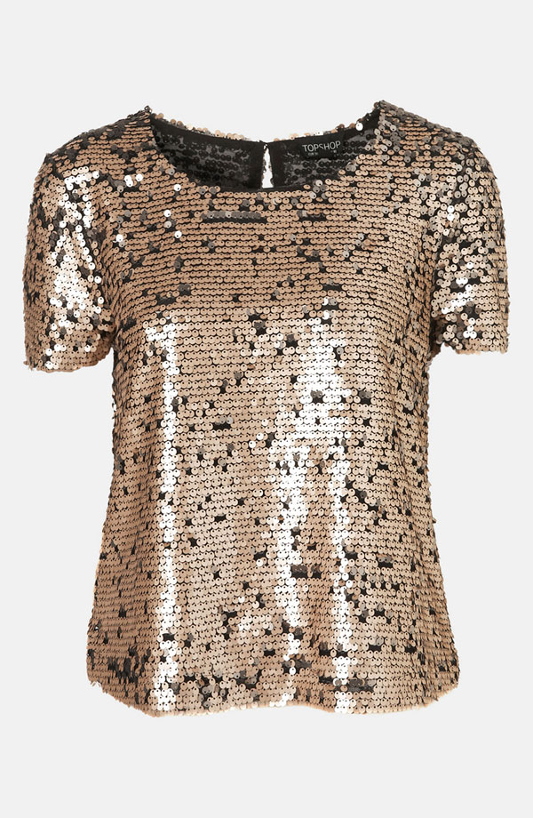 Sequin Top by Topshop