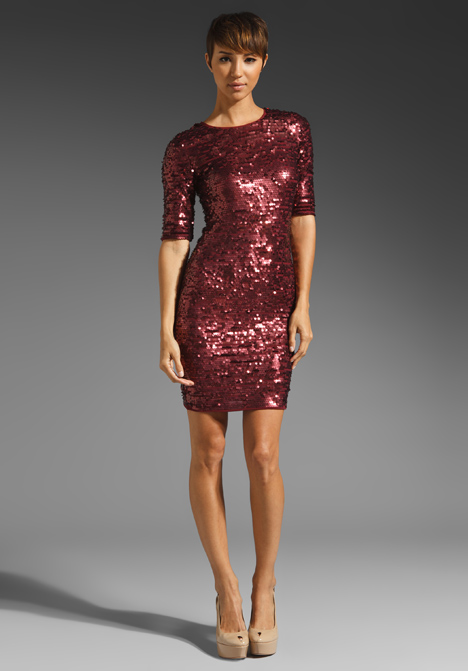 Sequin Dress by BCBGMAXAZRIA