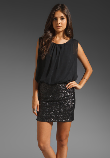 Chiffon Dress with Sequin Bottom from MM Couture by Miss Me MM