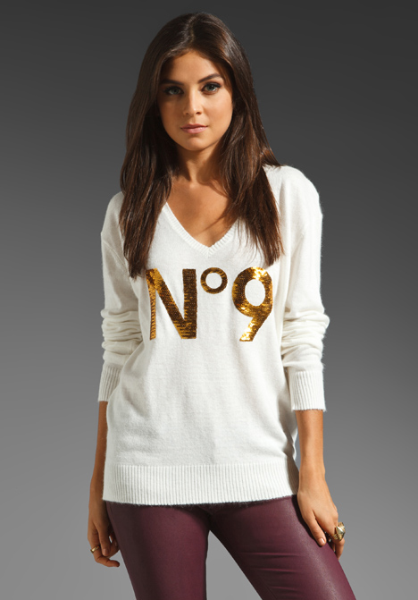 White Label Sequin No 9 Sweater by Wildfox Couture
