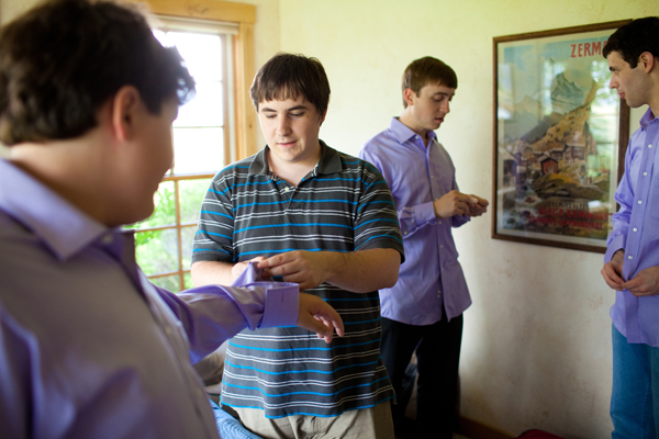 Matthew and his groomsmen